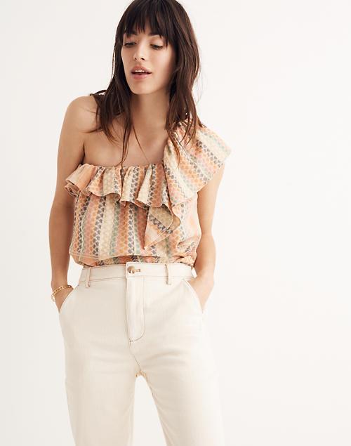 ba17cb7d9e1 Cecilie Copenhagen Single-Shoulder Ruffle Top