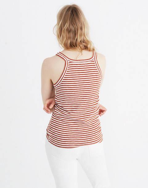 Audio Tank Top in Jodi Stripe in warm nutmeg image 2