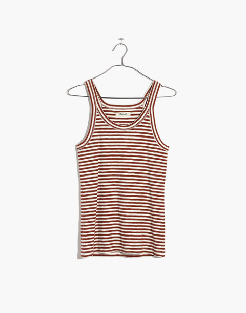 Audio Tank Top in Jodi Stripe in warm nutmeg image 4