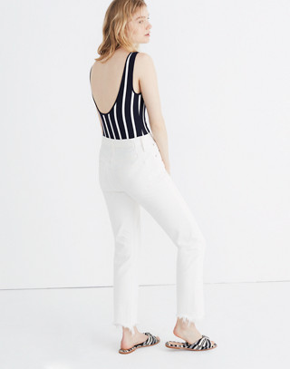Scoopback Bodysuit in Rikki Stripe in deep indigo image 3