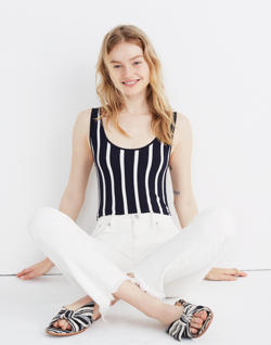 Scoopback Bodysuit in Rikki Stripe