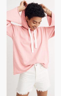 Bell-Sleeve Hoodie Sweatshirt