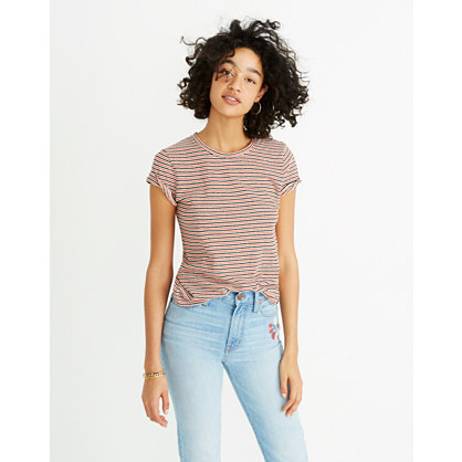 lo-fi-shrunken-tee-in-nona-stripe by madewell