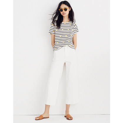 Embroidered Sun Setlist Boxy Top In Stripe by Madewell