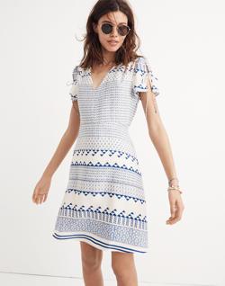 Poppy Dress in Ionian Tile