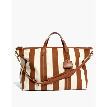The Transport Weekender in Striped Canvas