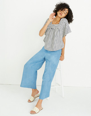 Chambray Huston Pull-On Crop Pants in leland wash image 2