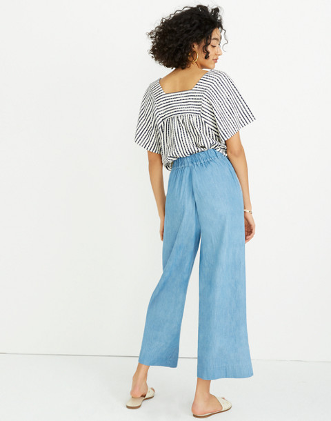 Chambray Huston Pull-On Crop Pants in leland wash image 3