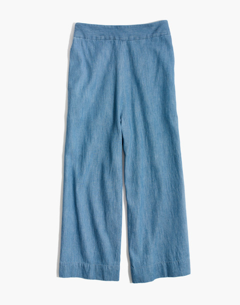Chambray Huston Pull-On Crop Pants in leland wash image 4