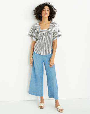 Chambray Huston Pull On Crop Pants by Madewell