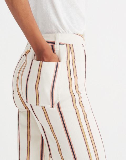 Tall Emmett Wide-Leg Crop Pants in Antique Coral Stripe