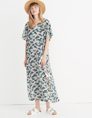 Gibraltar Cover-Up Maxi Dress in Mini Palms