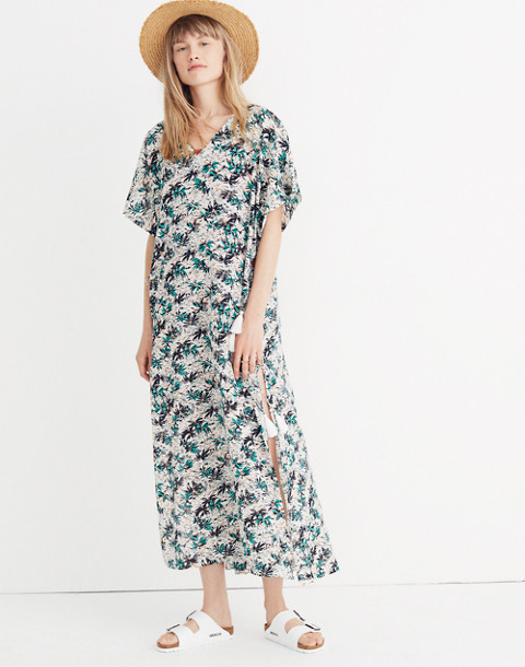 Gibraltar Cover-Up Maxi Dress in Mini Palms in bahamas vintage lace image 1