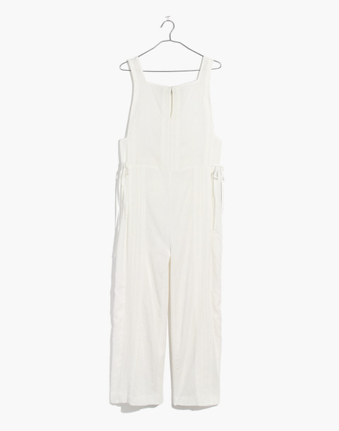 Esperanza Cover-Up Jumpsuit in eyelet white image 4