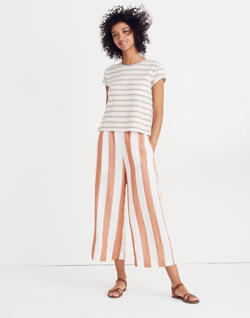 Huston Pull-On Crop Pants in Evelyn Stripe