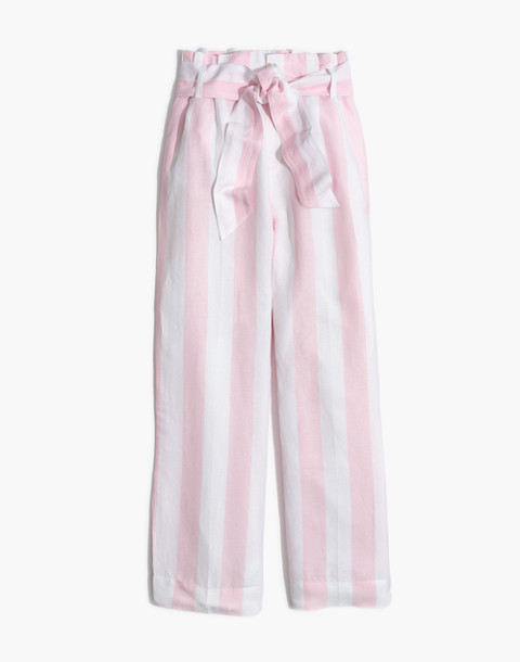 Striped Paper-Bag Pants in petal pink image 4