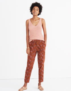 Caracas Cover-Up Pants in Warm Paisley