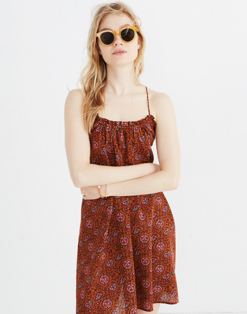 Tulum Cover-Up Dress in Warm Paisley