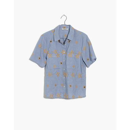 美德威尔Madewell星星刺绣条纹衬衣