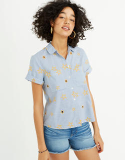 Star Embroidered Striped Shirt