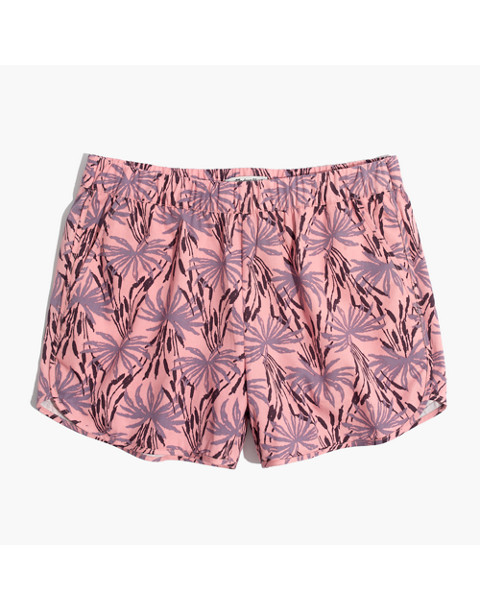 Pull-On Shorts in Oasis Palms in ikat peach blush image 4
