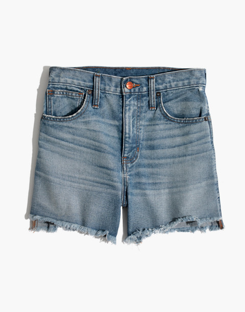 The Perfect Jean Short: Step-Hem Edition in odell wash image 4