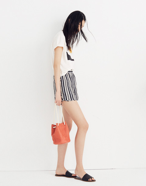 Pull-On Shorts in Evelyn Stripe in stone image 2