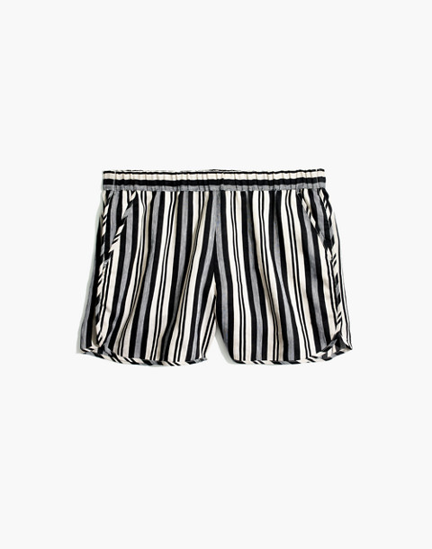 Pull-On Shorts in Evelyn Stripe in stone image 4