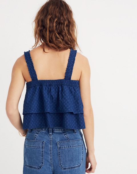 Indigo Ruffle-Strap Tier Top in katy wash image 3