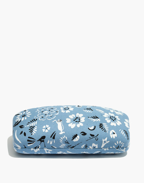 Bandana Fabric Sunglass Case in tranquil ocean image 1