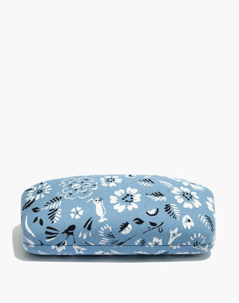 Bandana Fabric Sunglass Case in tranquil ocean image 1