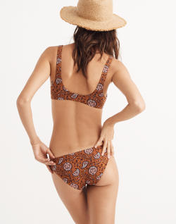 Madewell Lowrider Bikini Bottom in Warm Paisley