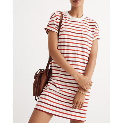 Pocket Tee Dress in Pablo Stripe