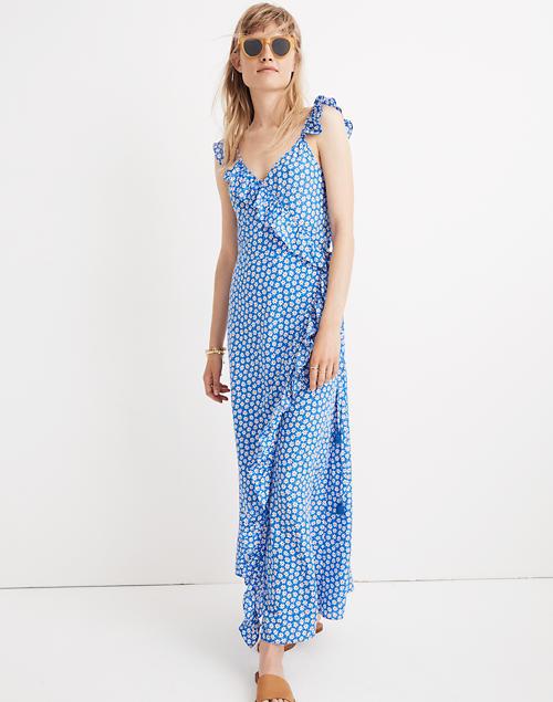 b0e646ef685 Ruffled Wrap Maxi Dress in Mini Daisy