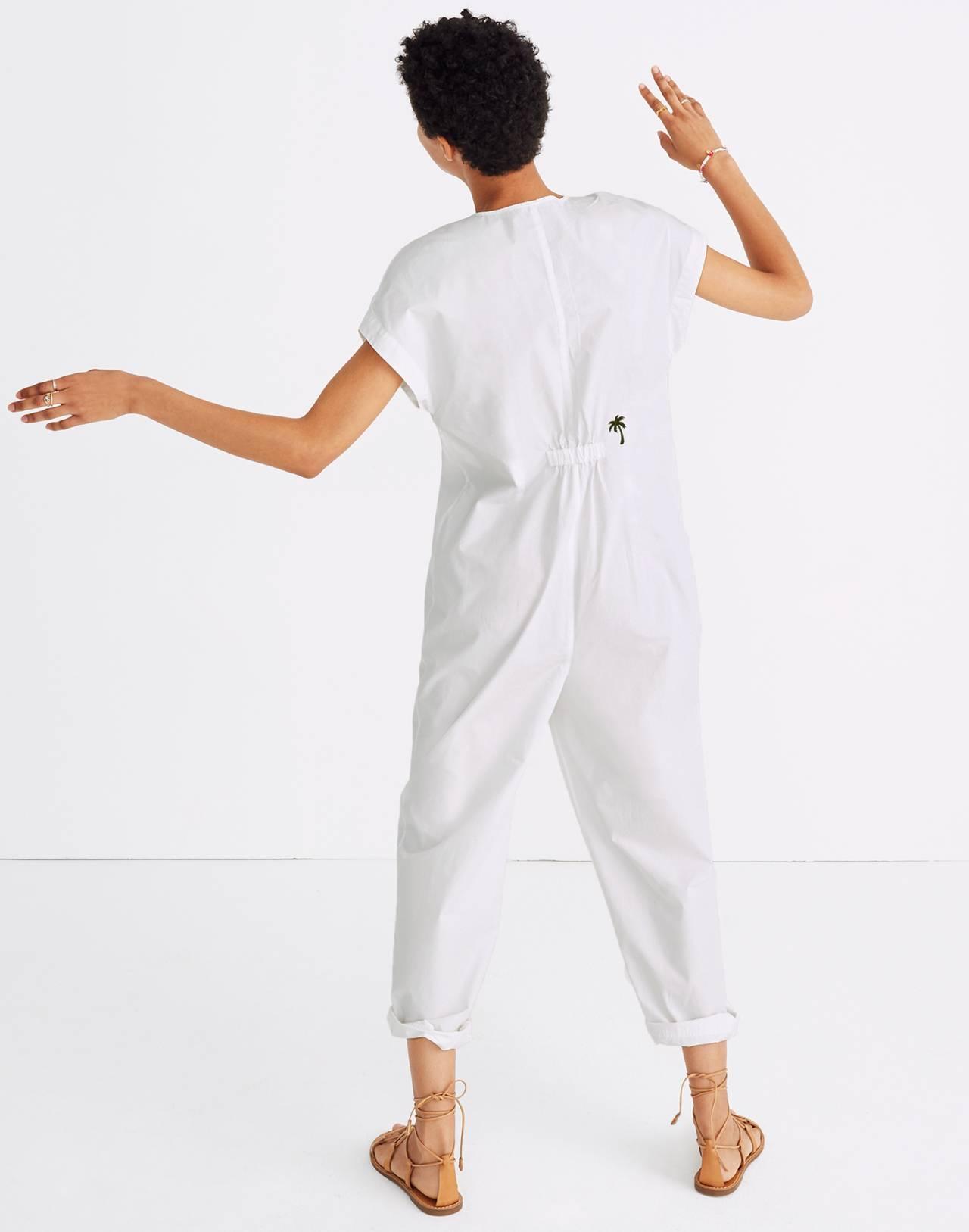 Mosswood Jumpsuit in eyelet white image 3