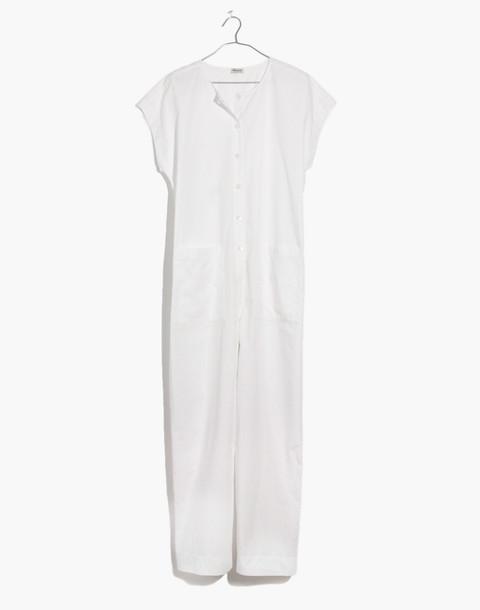 Mosswood Jumpsuit in eyelet white image 4