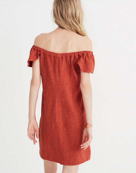 Texture & Thread Off-the-Shoulder Dress in spiced rose image 3
