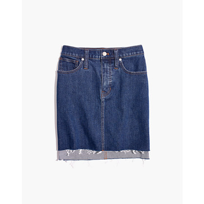 Stretch Denim Straight Mini Skirt: Step Hem Edition by Madewell