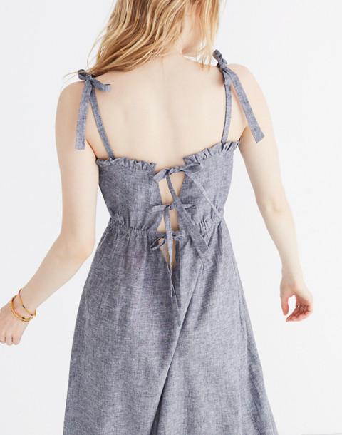 Innika Choo Daisy Embroidered Avens Midi Dress in grey image 2