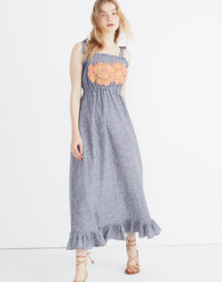 Innika Choo Daisy Embroidered Avens Midi Dress