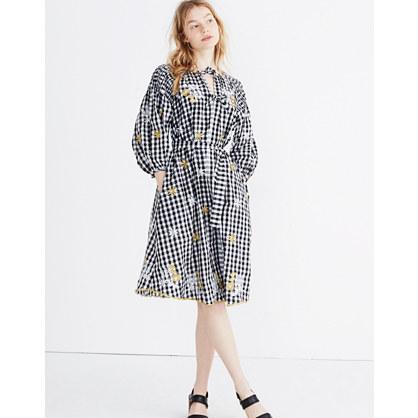 Innika Choo Smocked Gingham Avens Midi Dress
