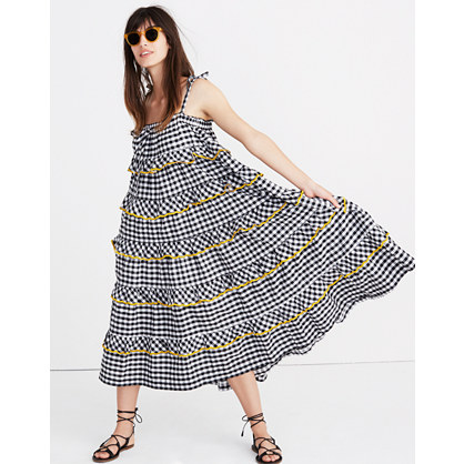 Innika Choo Tiered Gingham Avens Dress