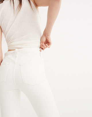 The Perfect Summer Jean in Tile White: Destructed-Hem Edition in tile white image 2