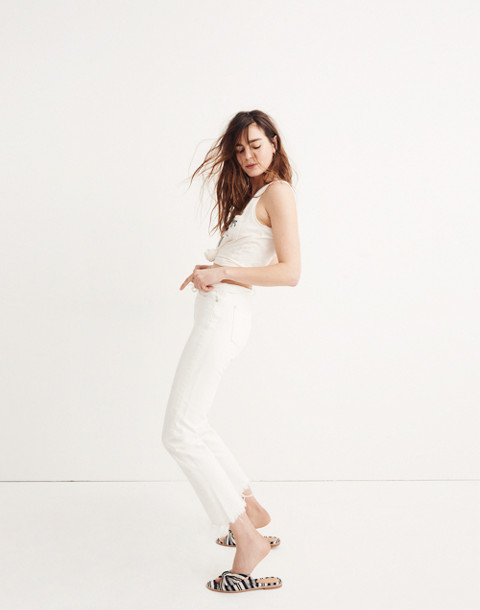 The Perfect Summer Jean in Tile White: Destructed-Hem Edition