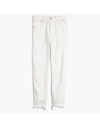The Perfect Summer Jean in Tile White: Destructed-Hem Edition in tile white image 4