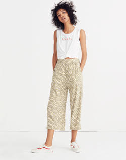 Huston Pull-On Crop Pants in Mini Daisy