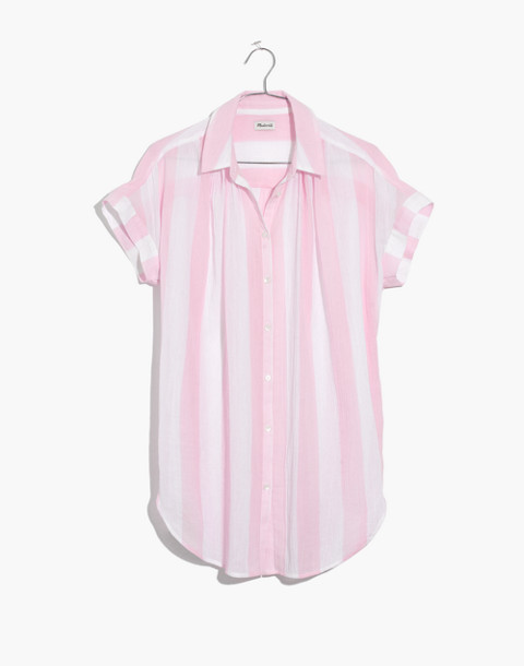 Central Tunic Shirt in Cara Stripe in petal pink image 4