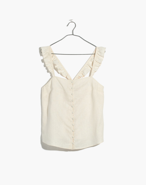 Ruffle-Strap Cami Top in vintage lace image 4