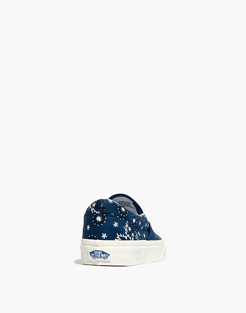 7217198d48 Madewell x Vans reg  Unisex Classic Slip-On Sneakers in Bandana Print in  blue bandana