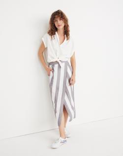 Striped Overlay Skirt